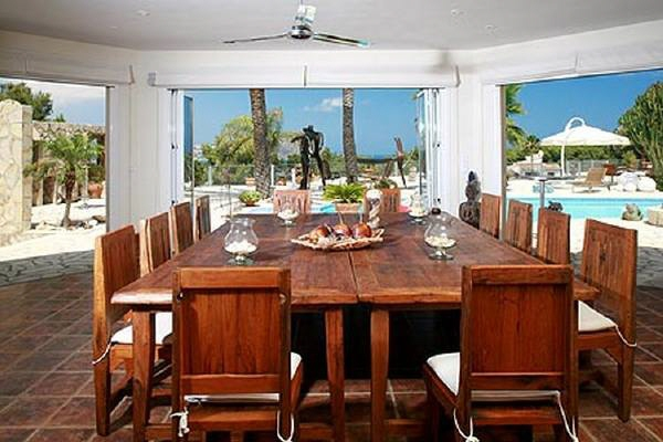 Dining Room with views at the swimming pool