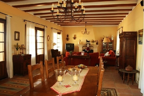 The pleasant living and dining-room