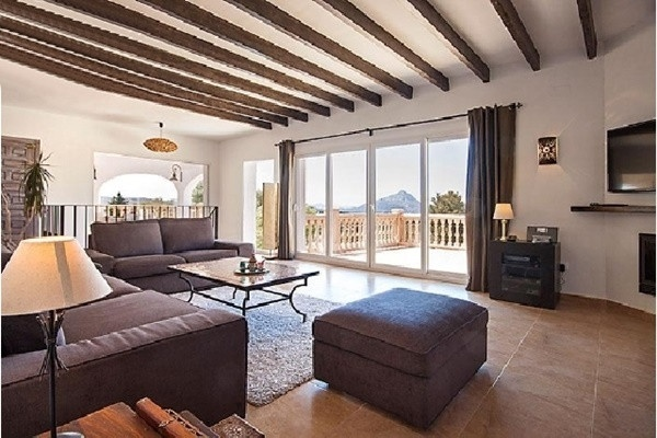 Villa, Jávea The Light Flooded, Very Modern Living Room With Huge Windows  And Direct Access To ...