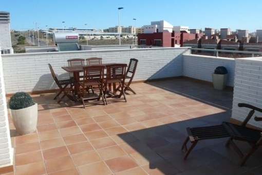 Roof terrace with lovely views