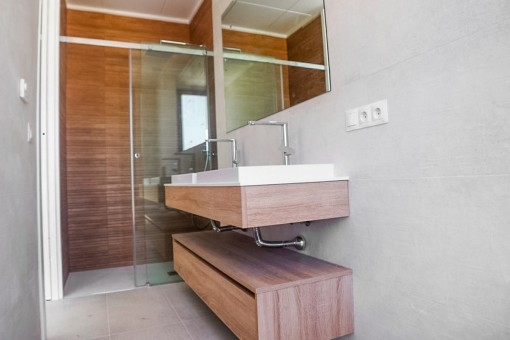 Bathroom with daylight and rain shower