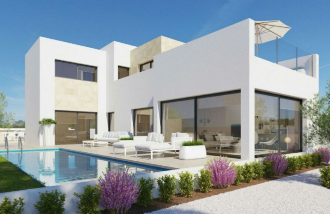 Luxurious newly built villa with pool and sea...